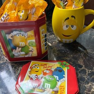 M&Ms Mug and Collectible Canister
